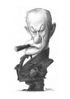 (8) Pablo Pino - Dibujo 4: Sigmund Freud #4SigmundFreud