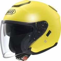 Shoei Solid J-Cruise Open-Face Helmet Single Shield with Pinlock Pins, Brilliant Yellow Open Face Motorcycle Helmets, Biker Helmets, Open Face Helmets, Motorcycle Outfit, Used Motorcycles For Sale, Motorcycle Parts And Accessories, Street Bikes, Plymouth, Used Cars