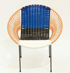 Great product & concept - this chair is designed by Marni Official & oven in PVC piping by ex-prisoners from Columbia as part of a rehabilitation project in the city of San Gil and featured by the Design Museum          Furniture: 100 Chairs   Designed by Marni, Italy     Woven in PVC piping by ex-prisoners from Colombia as part of a rehabilitation project in the city of San Gil