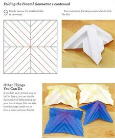 fractal paper folding instructions | Craftside: How to fold a fractal geometric from the book Origami 101 ...