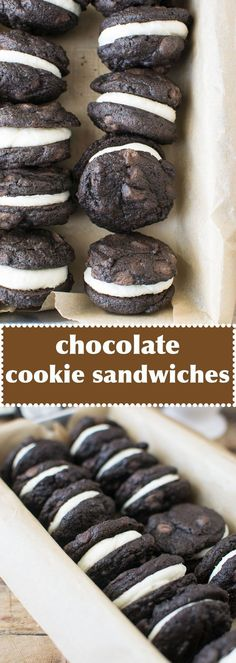 The Best Chocolate Sandwich Cookies: Rich double chocolate cookie sandwiches filled with vanilla buttercream. By @wellfloured