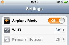 When traveling - save International charges by turning off Data. Use the Wifi with the Airplane mode on.