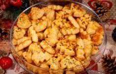 Karácsonyi sajtos süti recept Receptneked konyhájából - Receptneked.hu Shrimp, Meat, Food, Essen, Meals, Yemek, Eten