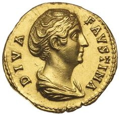 Roman Gold Coins / FAUSTINA SENIOR, wife of Antoninus Pius, (d.A.D. 141), issued after 147, gold aureus... Realisation Price $8,800.00 AUD... Click VISIT to see 10,000+ Gold Coins at MAD On Collections. Please feel free to pin or share this coin. #GoldInvesting
