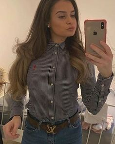 White Shirt Outfits, White Shirts, Sexy Outfits, Dress Shirts, Shirt Blouses, Country Style, My Style, Collar Blouse, Neckties