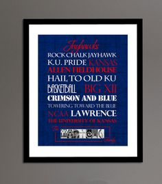 Jayhawks Print 20 off today only in by SportingStandouts on Etsy, $40.00