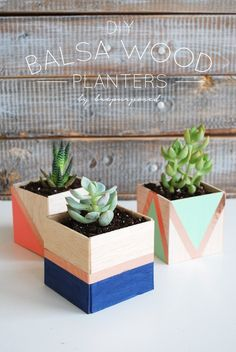 Craft some striking planters with geometric colorblocking.