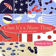 Clam It's a Shore Thing Fat Quarter Bundle Jack and Lulu for Dear Stella Fabrics - Fat Quarter Shop