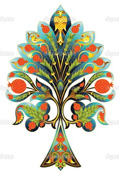 Ottoman Empire Art — Stock Photo © nurayy70 #12589127 3d Wallpaper Design, Tree Of Life Painting, Indian Flowers, History Projects, Jewish Art, Floral Border, Tile Art, Art Pages, Diy