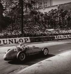 "dbslrt:  "" Grand Prix de Pau, 1949, Fangio sur Maserati 4CLT.  """