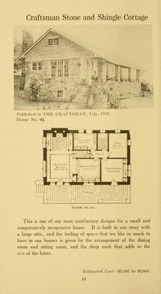 Twenty-four Craftsman houses, with floor plans. : Stickley, Gustav, 1858-1942 : Free Download, Borrow, and Streaming : Internet Archive