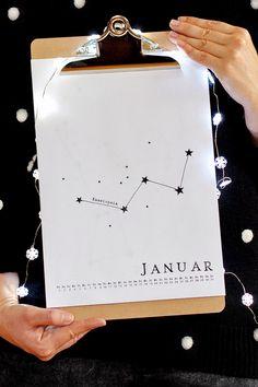 Sternbild-Kalender 2016 Freebie