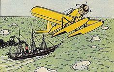 """La estrella misteriosa - Hidroplano Arado Ar196 y Buque """"Peary"""" (variante de color)"""