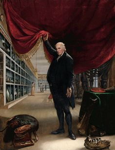 Charles Willson Peale - The Artist in His Museum [1822]
