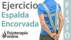 Ejercicio de corrección postural con cincha para hombros adelantados y ...