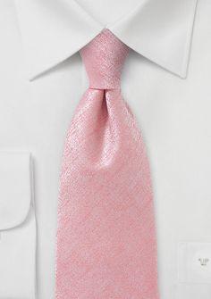 Designer Tie in Heathered Pink | Bows-N-Ties.com