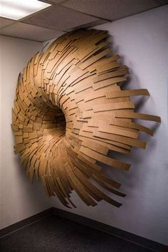 Rolling Forces created by a 17 year old out of cardboard! Such talent! Cardboard Sculpture, Cardboard Paper, Cardboard Crafts, Wood Sculpture, Wall Sculptures, Cardboard Design, Land Art, Installation Art, Art Lessons