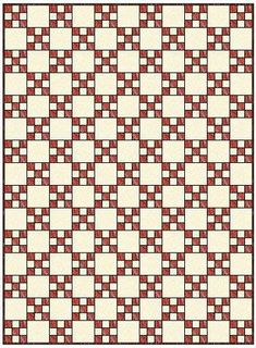 Single Irish Chain Quilt.  This sight has awesome tutorials for different Irish Chain Quilts