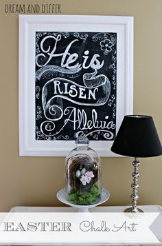 Dream and Differ: Easter Chalk Art and simple spring vignette
