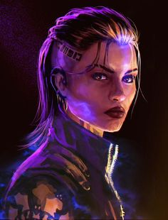 A genre of science fiction and a lawless subculture in an oppressive society dominated by computer technology and big corporations. Cyberpunk 2077, Cyberpunk Kunst, Cyberpunk Girl, Mass Effect Jack, Mass Effect Characters, Sci Fi Characters, Fictional Characters, Dark Souls, Character Portraits