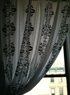 Idea: Hand Stenciled Curtains