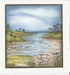 De Stempelwinkel - Designteam: Waterside bluff re+li, Bäume??? (--> korrekter Link auf dem Blog nicht gefunden!!!)