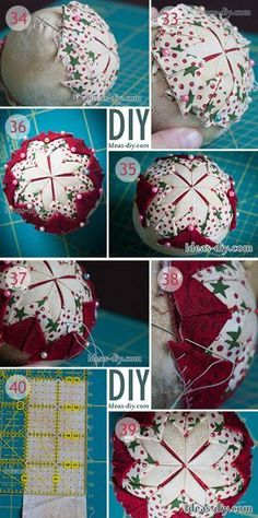 DIY Quilted Christmas Ornament — Ideas-diy.com