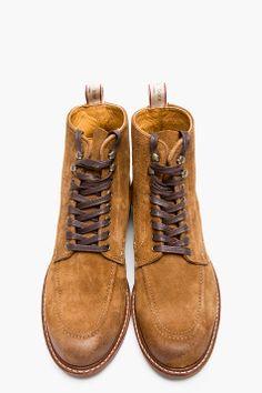RAG & BONE Tan Suede Rowan Boots