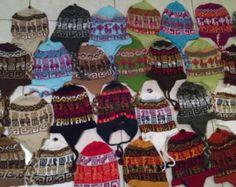 Sombrero de Chullo de lana Alpaca peruana con oreja