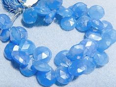 Semi Precious Gemstone Briolette.  Chalcedony by LuxBeads on Etsy