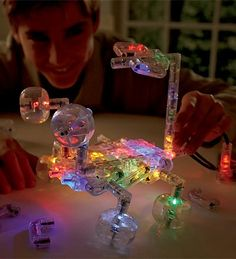 Laser Pegs Lighted Construction Set with Power Unit and Cord, 72-Piece