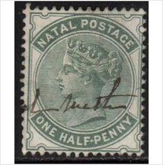 South Africa, Natal Scott 66 - SG97a, 1882 1/2d Green used stamps sur le France de eBid