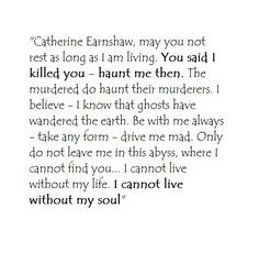 wuthering heights who is catherines one true love
