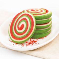 Recette de : Biscuits spirales de Noël
