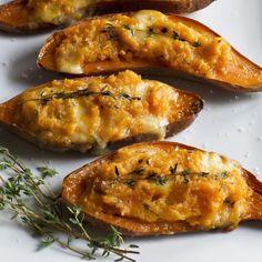 Twice-Baked Sweet Potatoes - Barefoot Contessa (make ahead:assemble, fridge, then bake when ready)