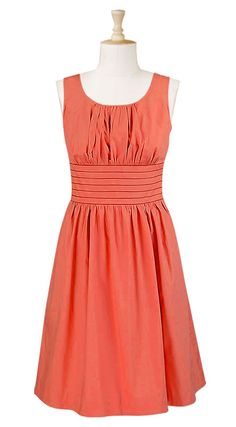 This one with a short tie up sleeve would be cute!  I love that the dresses almost all have pockets. $59.95