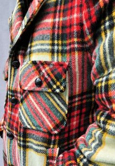 Vintage Lakeland Plaid Wool Coat
