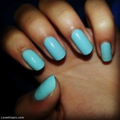 I think I like this baby blue nail color - Don't you? :)