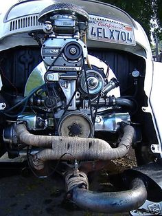Dropping an engine from a VW Bug is easy--just four bolts behind the engine! Description from pinterest.com. I searched for this on bing.com/images