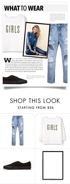 """""""Players Girl"""" by spellrox ❤ liked on Polyvore featuring MANGO, Vans and Bomedo"""