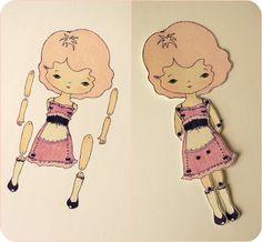 Gingermelon Dolls: articulated paper dolls