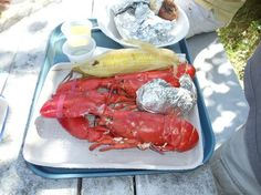 Beautiful boatride out of Boothbay Harbor, Maine to Cabbage Island for this wonderful lobster/clambake!