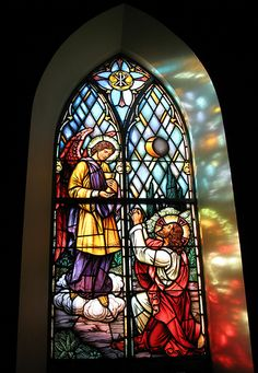 I love churches with stained glass.