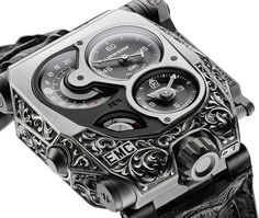The new Urwerk EMC Pistol watch with images, price, background, specs, & our expert analysis.