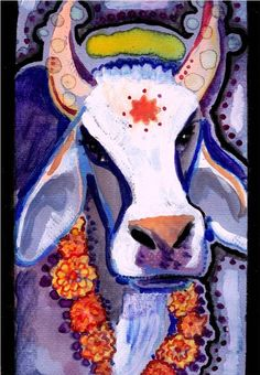 Your place to buy and sell all things handmade Cow Painting, Painting Prints, Watercolor Paintings, Brahma Bull, Wildlife Biologist, Cow Art, Art Gallery, Online Gallery, Indian Paintings
