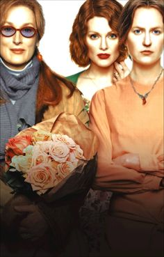 The Hours: In 1951, Laura Brown, a pregnant housewife, is planning a party for her husband, but she can't stop reading the novel 'Mrs. Dalloway'. Clarissa Vaughn, a modern woman living in present times is throwing a party for her friend Richard, a famous author dying of AIDS. These two stories are simultaneously linked to the work and life of Virginia Woolf, who is writing the novel.