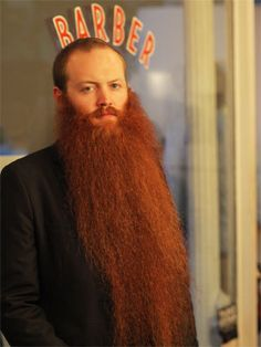 """Jack Passion describes his [woolly], ginger beard as """"a waterfall of hot orange lava, pouring off my face, and splashing into my lap."""""""