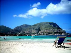 Swimming in the crystal clear water and sunbathing on the white sand beaches of Palermo, Sicily... Can't wait!
