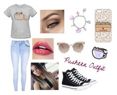 """Pusheen Outfit"" by heyitzfran on Polyvore featuring Pusheen, Glamorous and Converse"
