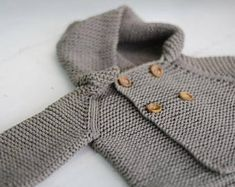 KNITTING PATTERN Basic Hooded Coat Pattern 3 months to 6y child sizes PDF file